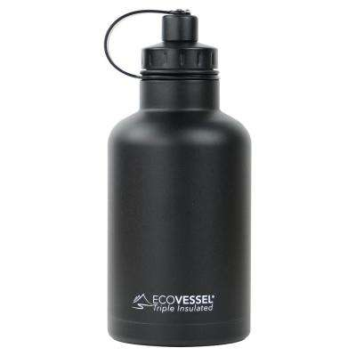 64 oz. Boss Triple Insulated Growler with Screw Cap - Black Shadow