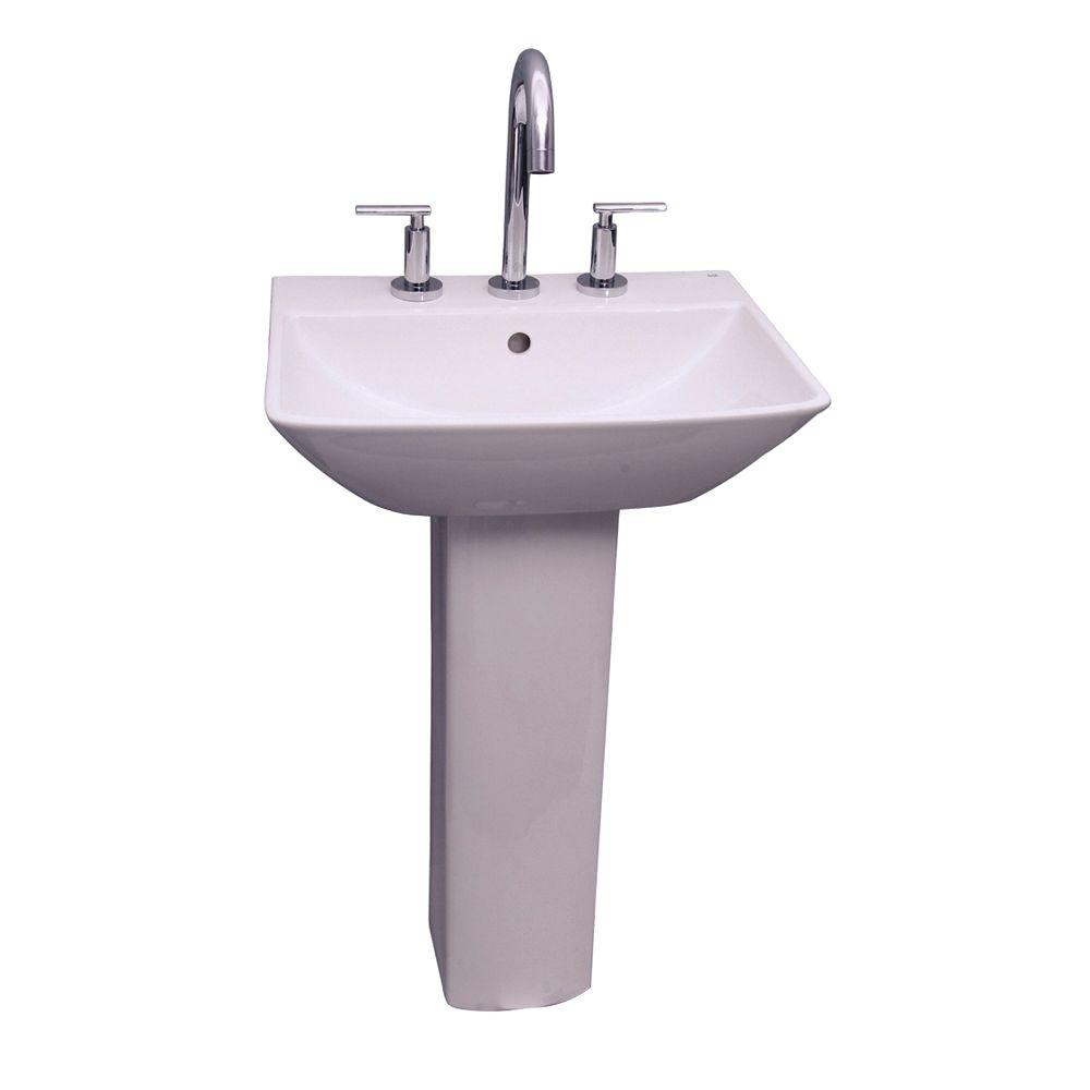 Kokols parada pedestal combo bathroom sink in clear wf 41 - Home depot bathroom pedestal sinks ...