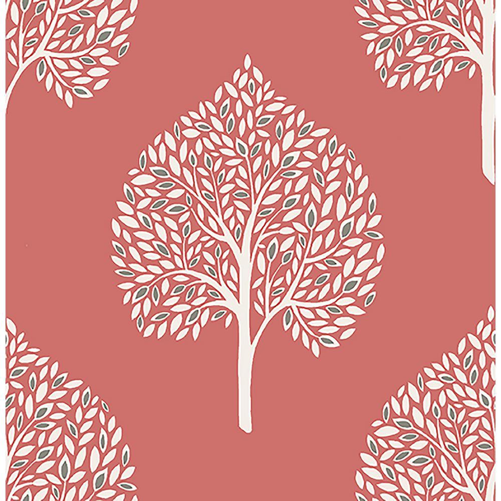 Grove Coral Tree Wallpaper Sample