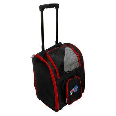 NFL Buffalo Bills Pet Carrier Premium Bag with wheels in Red