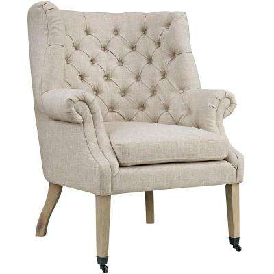 Chart Sand Upholstered Fabric Lounge Chair