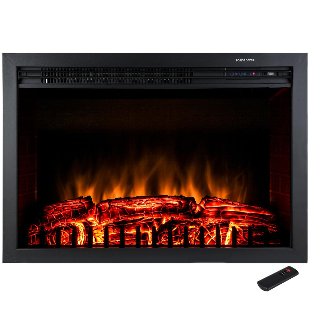 akdy 29 in freestanding electric fireplace insert heater in black