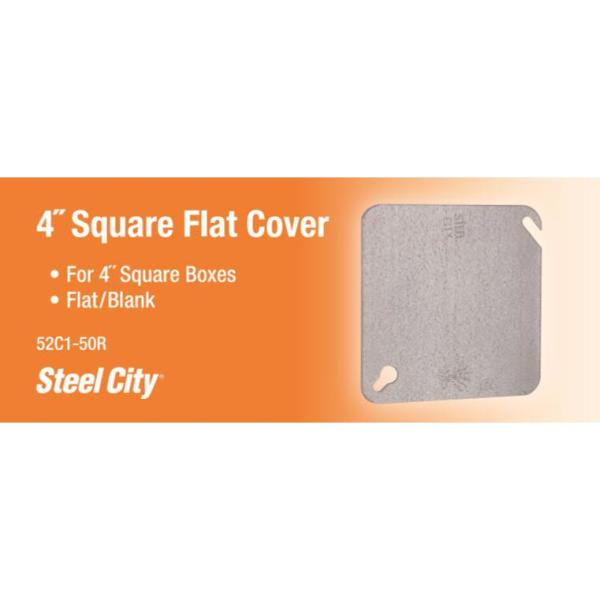 Pack of 1000 4 3//4 x 4 3//4 Square Flat Card