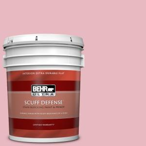 Behr Ultra 5 Gal M150 2 Peppermint Stick Extra Durable Flat Interior Paint Primer 172005 The Home Depot