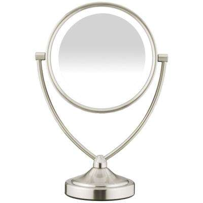 9.5 in. x 7.4 in. Natural Daytime Lighted Round Mirror