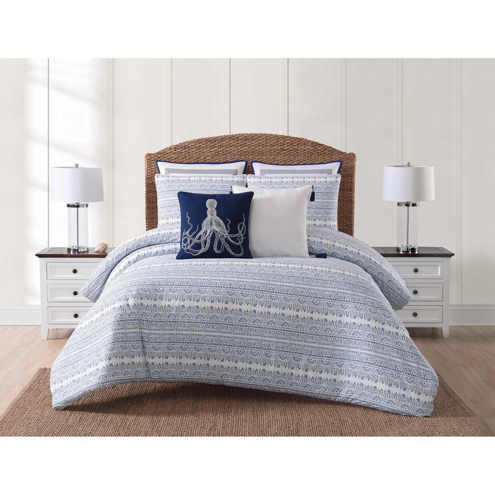 Reef Blue Full/Queen Comforter with 2-Shams