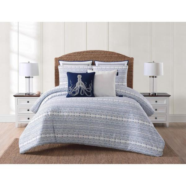 Reef 3-Piece Blue King Comforter Set