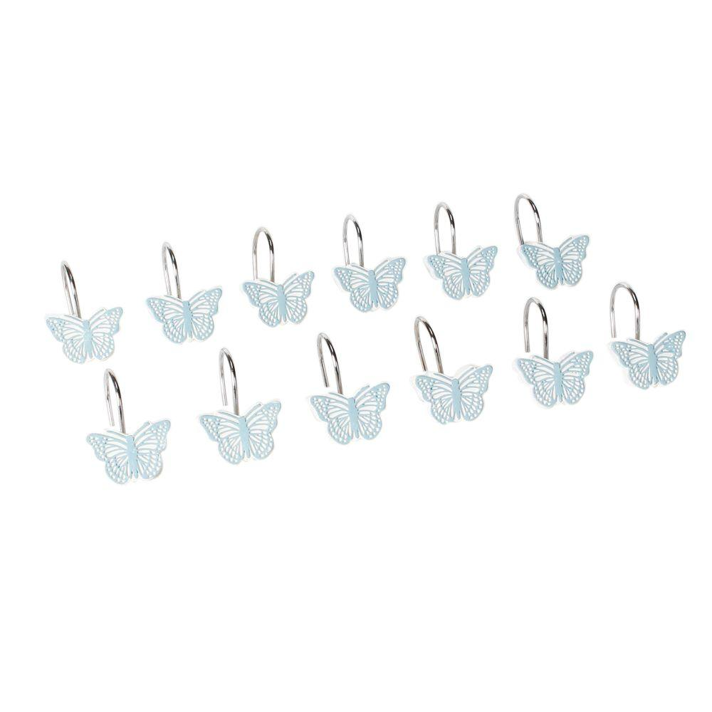 Fluttering Resin Shower Curtain Hooks