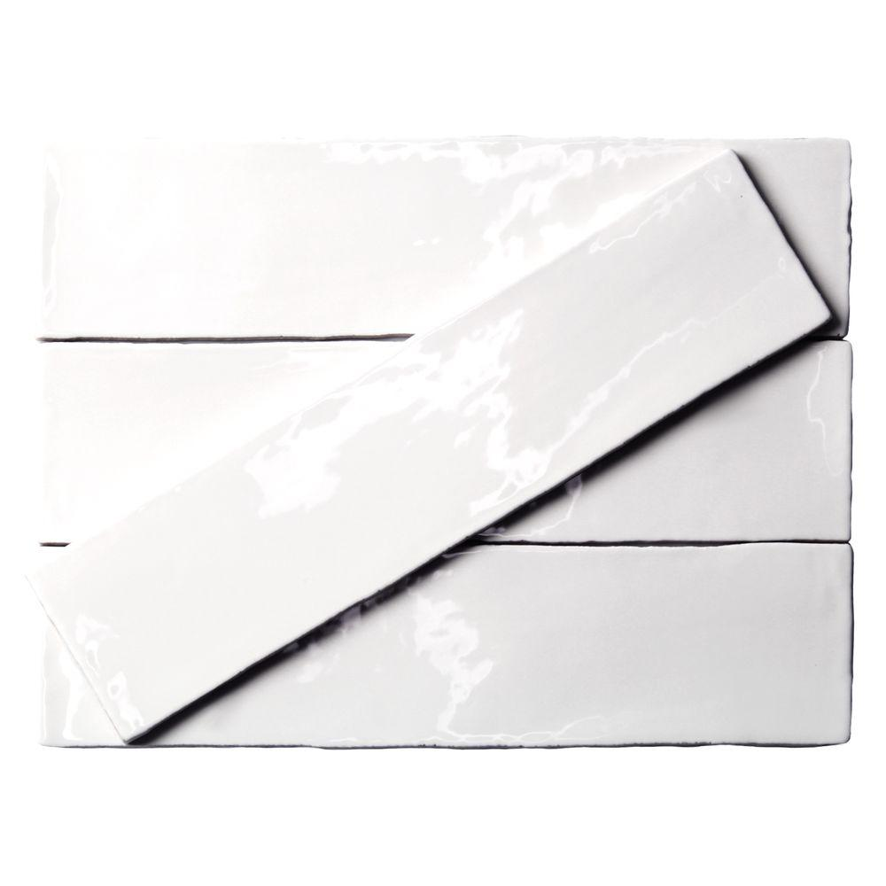 Ivy Hill Tile Catalina White 3 In X 12 8 Mm Ceramic Wall Subway 44 Pieces 10 76 Sq Ft Case