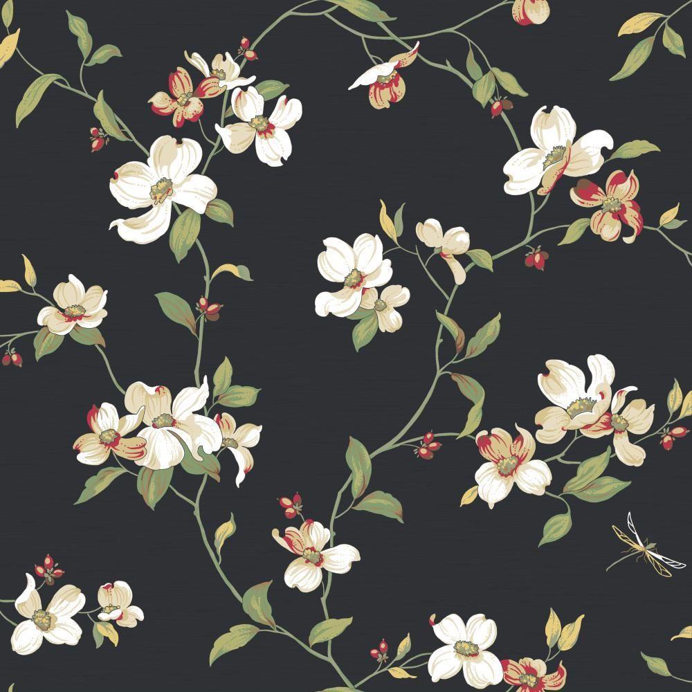 York Wallcoverings Dogwood Wallpaper