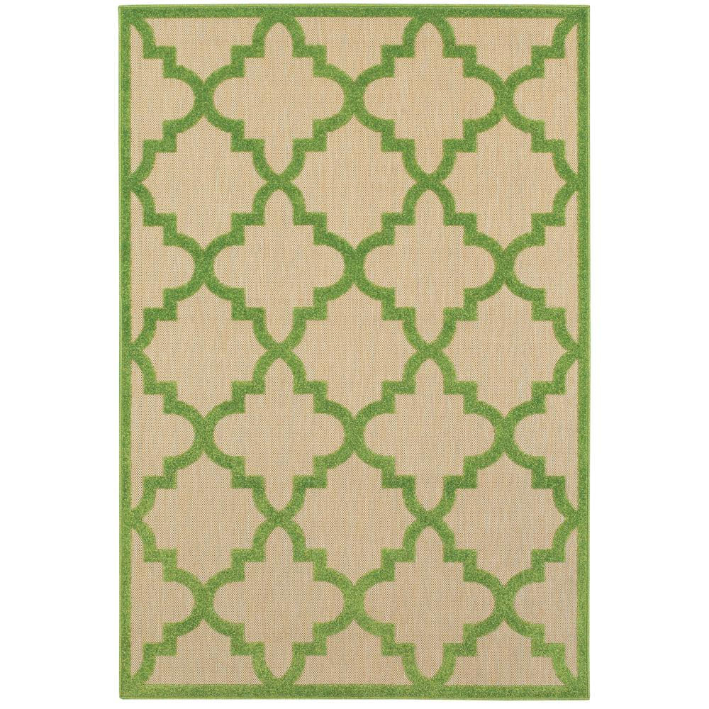 Marina Green 4 ft. x 5 ft. Indoor/Outdoor Area Rug