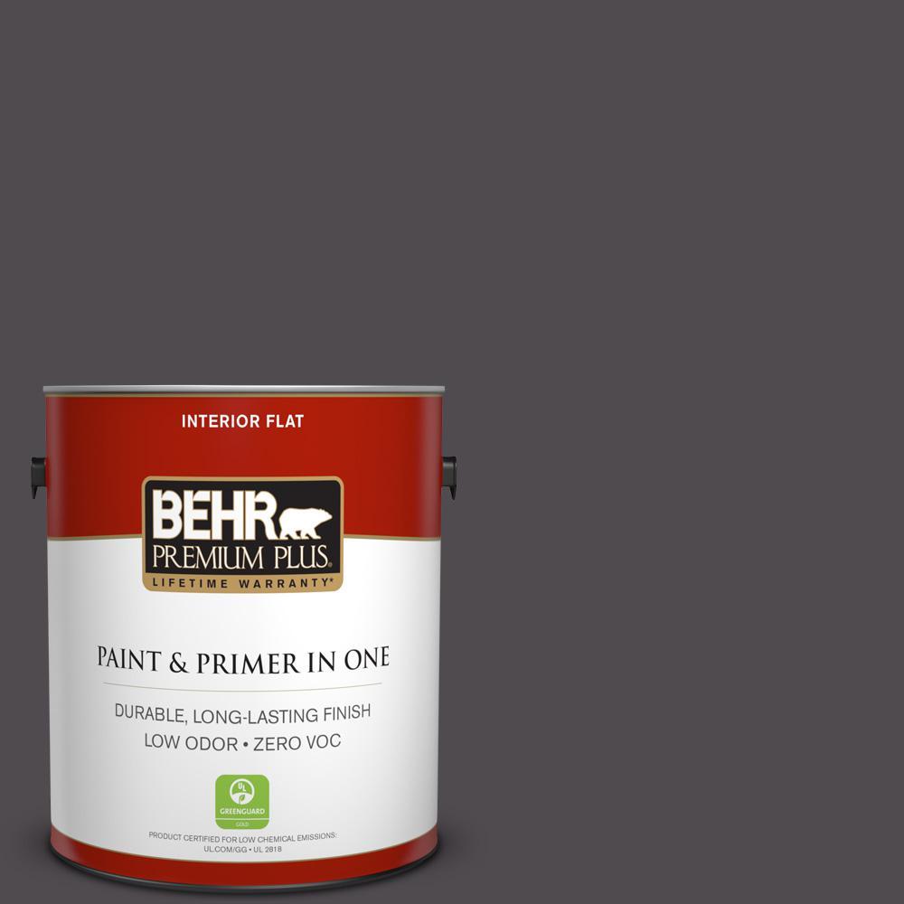 BEHR Premium Plus 1-gal. #N570-7 Black Elegance Flat Interior Paint