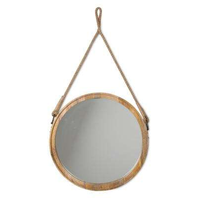 Oval Mango Wood Decorative Hanging Mirror