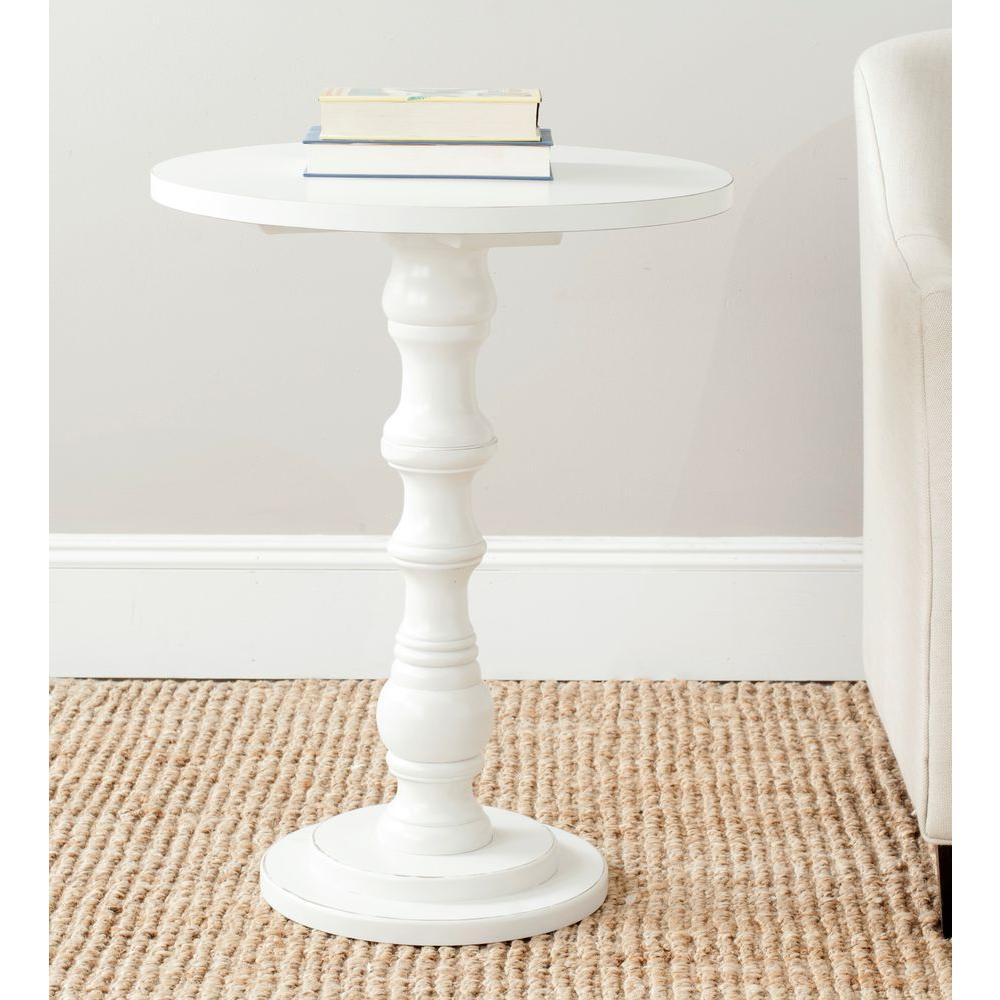 Beau Safavieh Greta Off White End Table