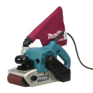 Makita 11 Amp 4 inch x 24 inch Corded Belt Sander with Abrasive Belt, 80G Belt and Dust Bag by Makita