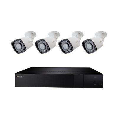 8-Channel IP Indoor/Outdoor Surveillance 2TB NVR System with (4) 5MP H.265 Bullet Cameras