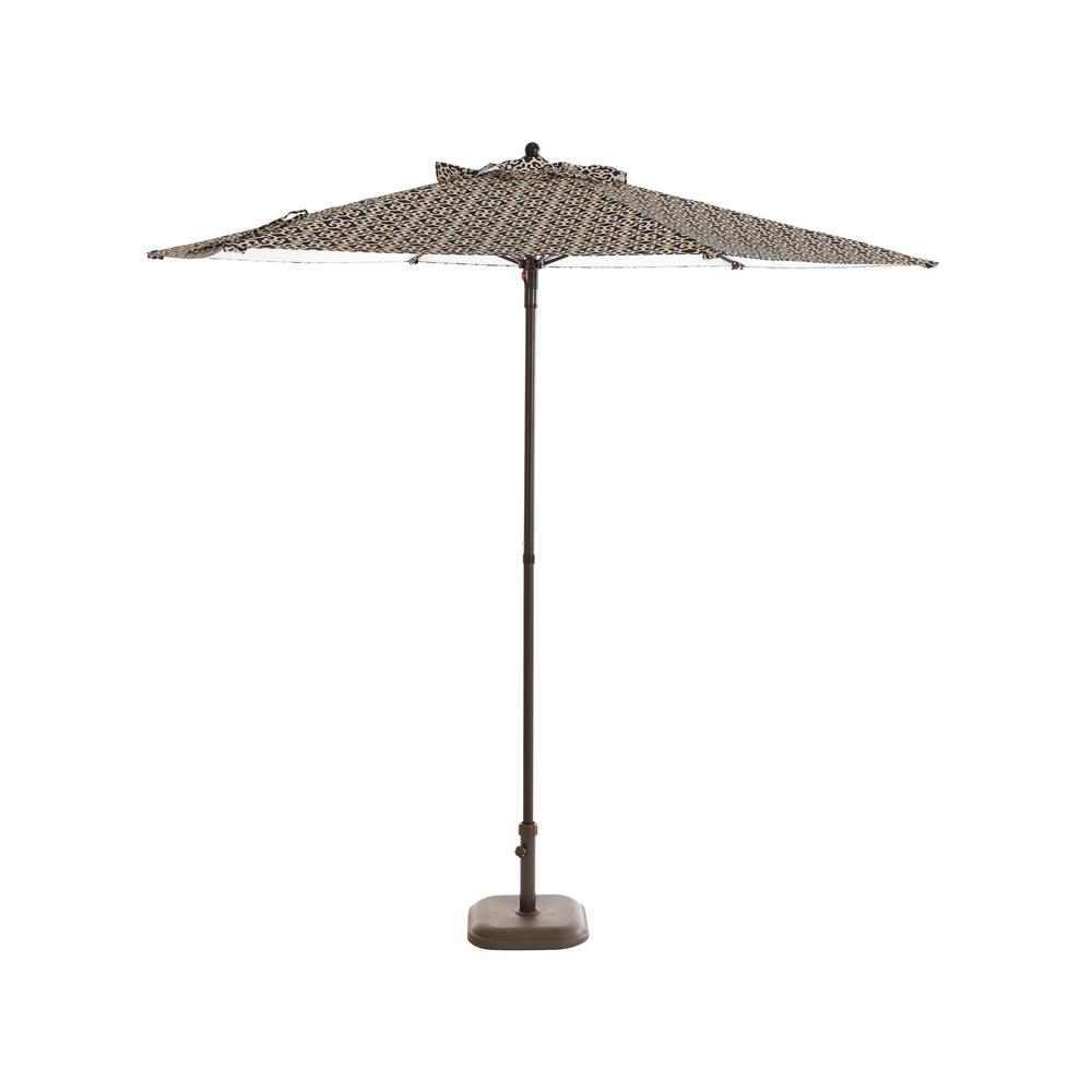 H&ton Bay 7.5 ft. Steel Patio Umbrella in Jasper Trellis  sc 1 st  Home Depot : hampton bay patio umbrella replacement canopy - memphite.com