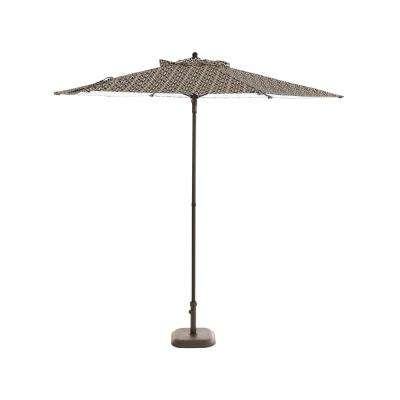 7.5 ft. Steel Patio Umbrella in Jasper Trellis