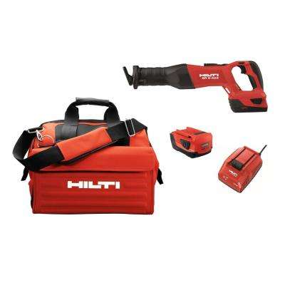 22-Volt SR6 A-22 Advanced Compact Battery Cordless Brushless Reciprocating Saw with Battery Pack, Charger and Tool Bag