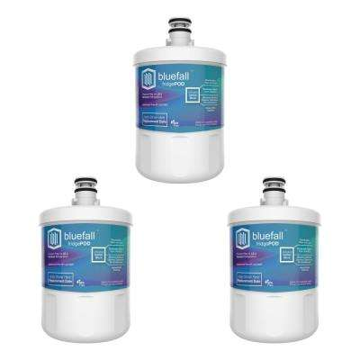 3 Compatible Refrigerator Water Filters Fits LG LT500P and Kenmore 46-9890 (Value Pack)