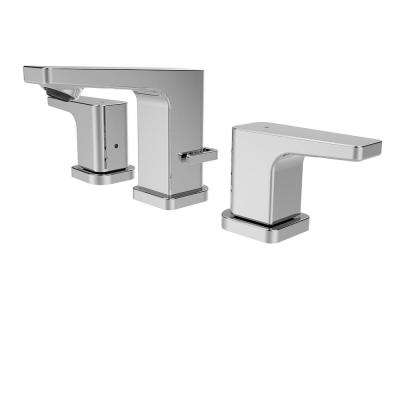 Kubos 2-Handle 8 in. Widespread Bathroom Faucet in Polished Chrome