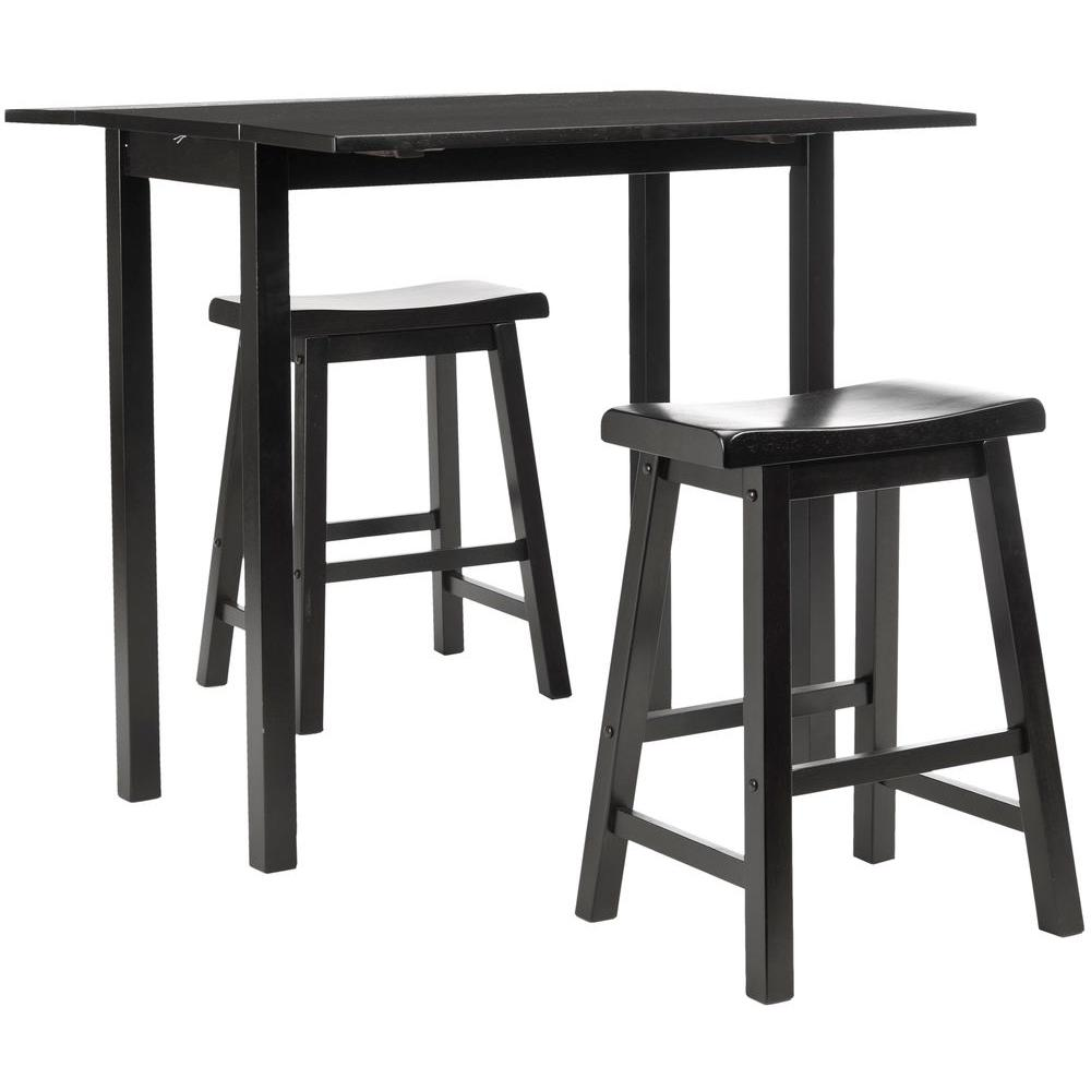 Safavieh Graham 3-Piece Espresso Bar Table Set  sc 1 st  The Home Depot & Safavieh Graham 3-Piece Espresso Bar Table Set-AMH8502A - The Home Depot