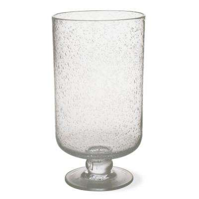 Hurricane 11-3/4 in. Clear Bubble Glass Large Candle Holder