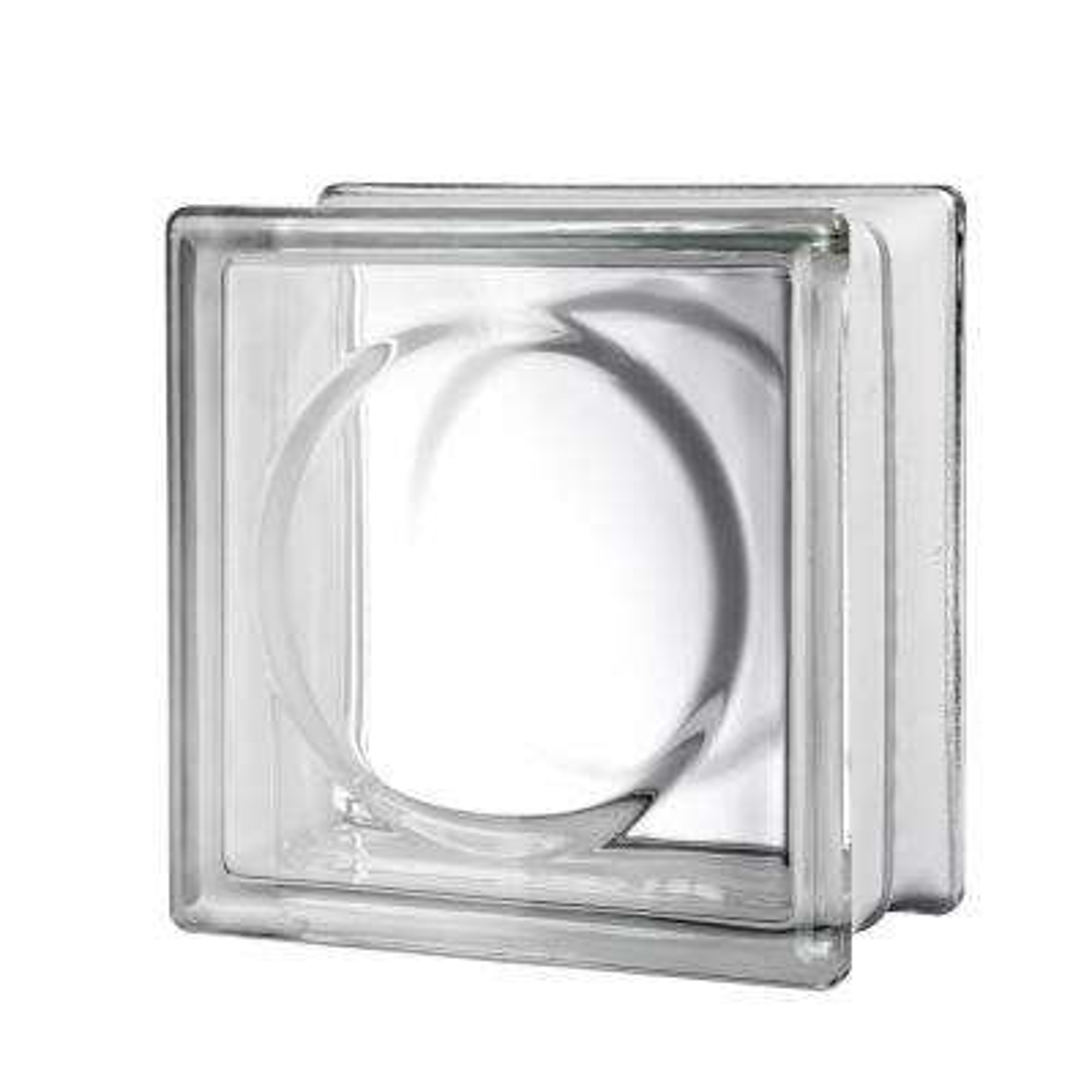 7.75 in. x 7.75 in. x 3.12 in. Alpha Pattern Glass Blocks (10-Pack)