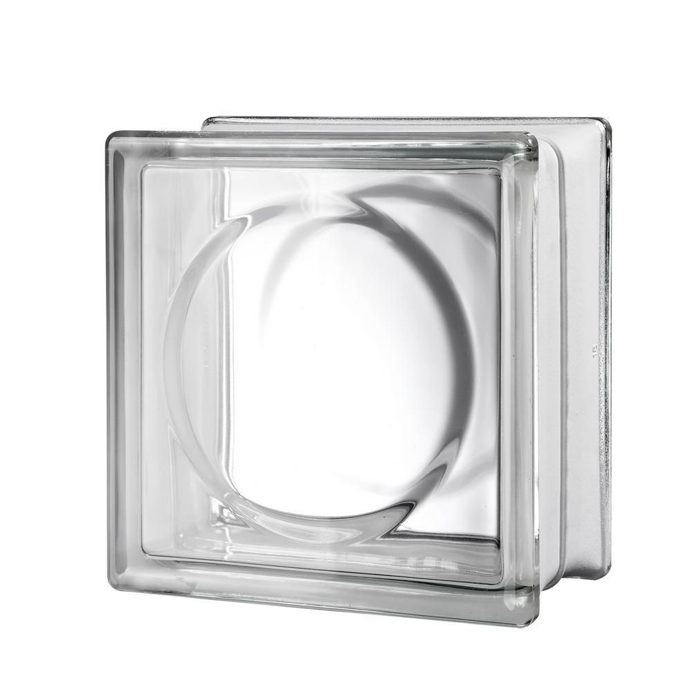 7.75 in. x 7.75 in. x 3.875 in. Alpha Pattern Glass Block (8-Pack)