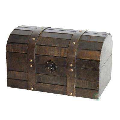 12 in. x 8 in. x 7.3 in. Wood Old Style Barn Trunk/Box