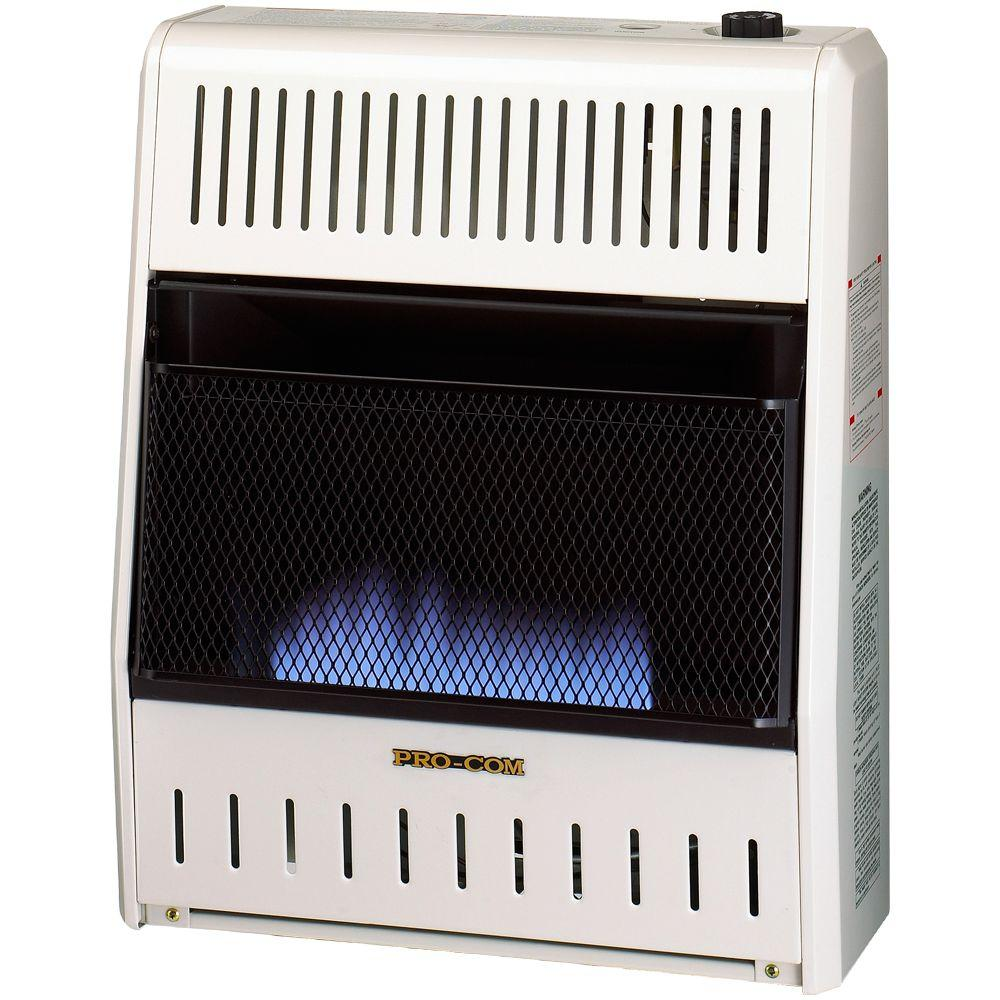 ProCom 19 in. Vent-Free Dual Fuel Blue Flame Gas Wall Heater