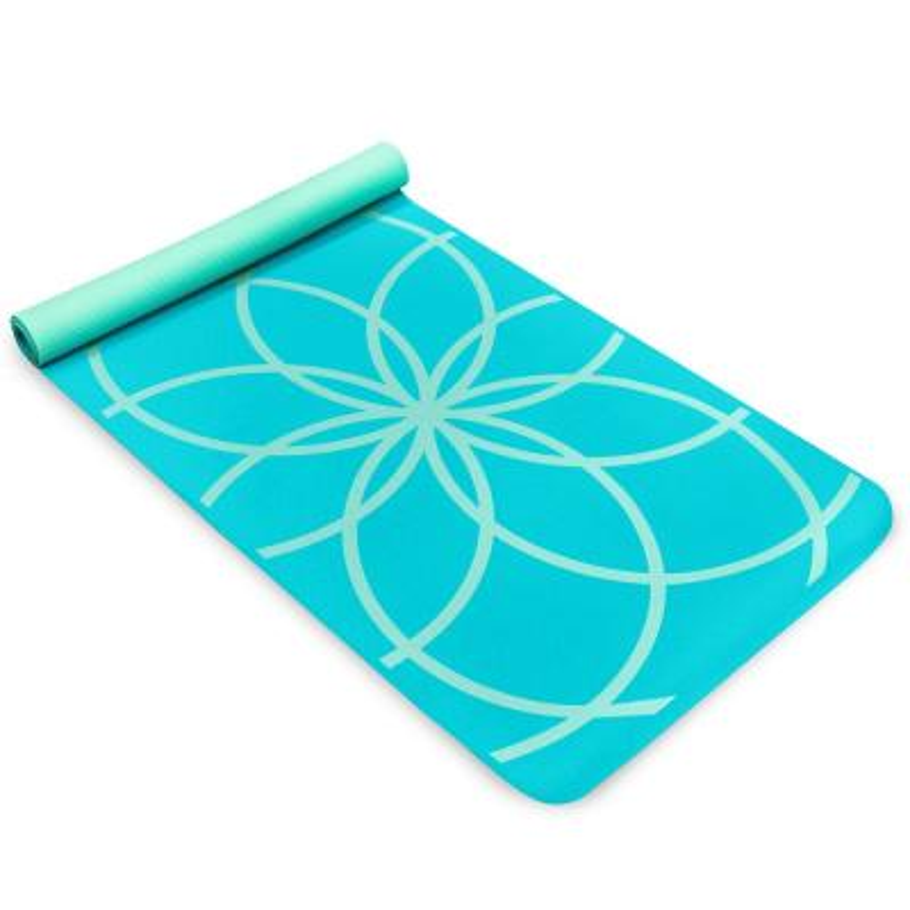 EkoSmart 4 mm Purple Yoga Mat - Zen Drop