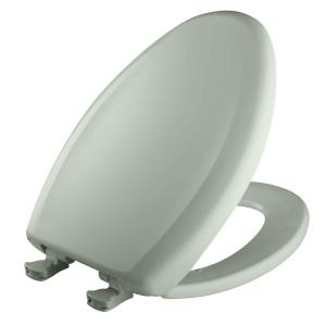 Bemis Slow Close STA-TITE Elongated Closed Front Toilet Seat in Sea Mist Green by BEMIS