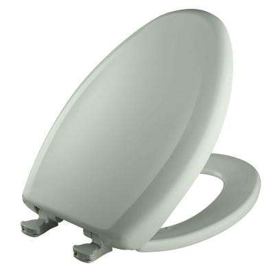 Slow Close STA-TITE Elongated Closed Front Toilet Seat in Sea Mist Green