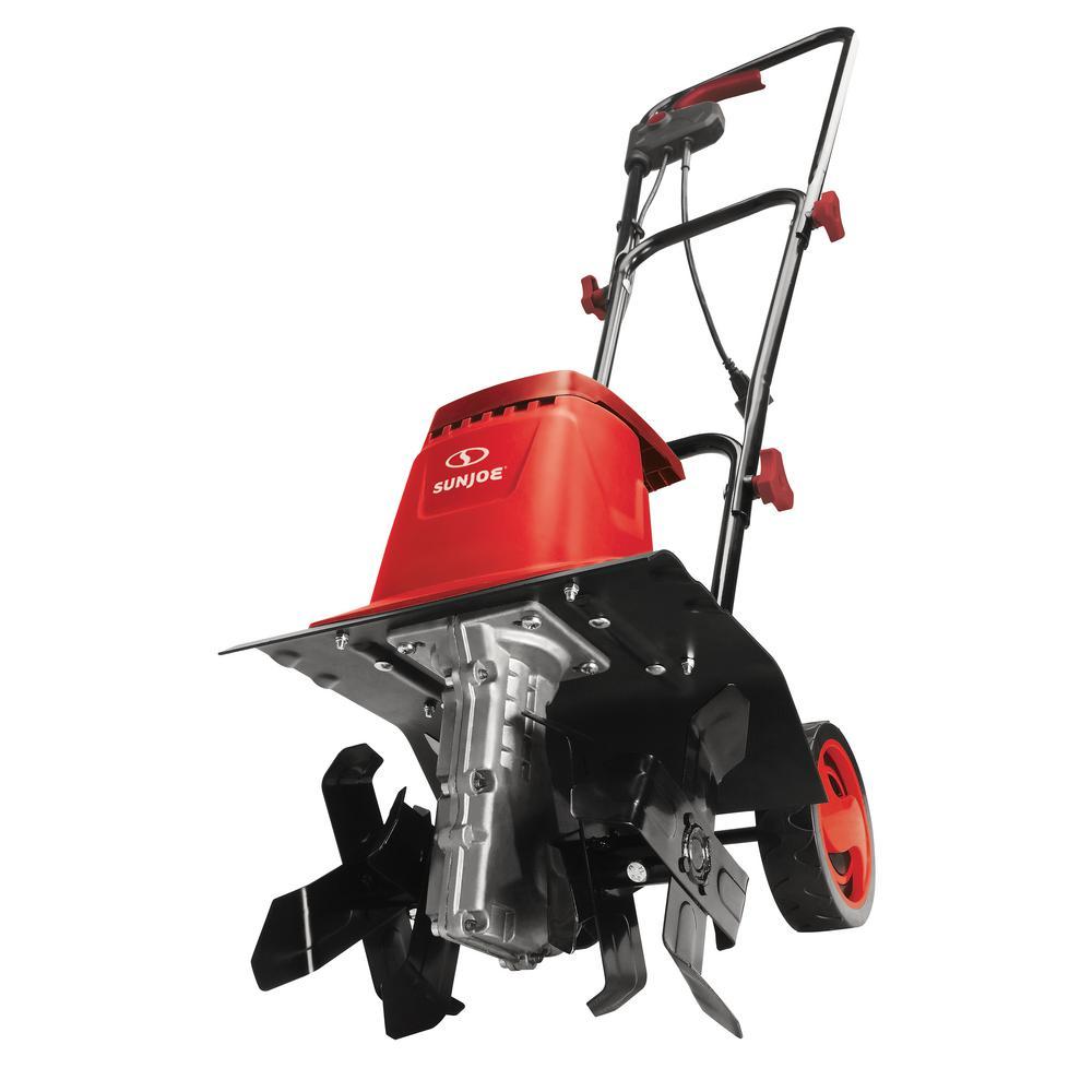 12 in. 8 Amp Electric Garden Tiller/Cultivator in Red
