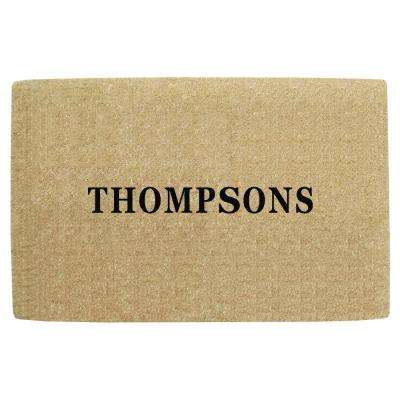 No Border 30 in. x 48 in. Heavy Duty Coir Personalized Door Mat