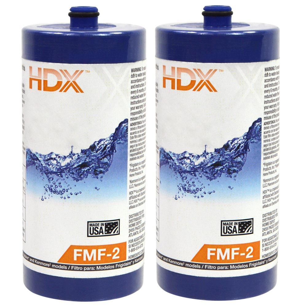HDX FMF-2 Premium Refrigerator Replacement Filter Fits Frigidaire WF1CB (2-Pack)