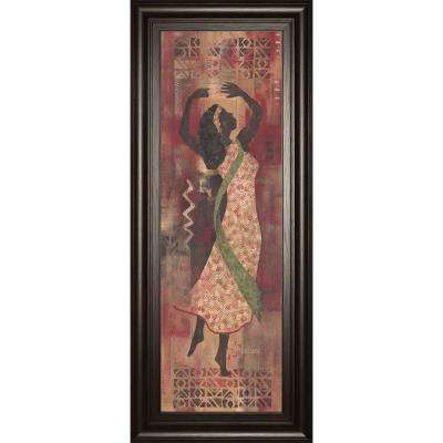 "18 in. x 42 in. ""Graceful Reflection I"" by Maria Donovan Framed Printed Wall Art"
