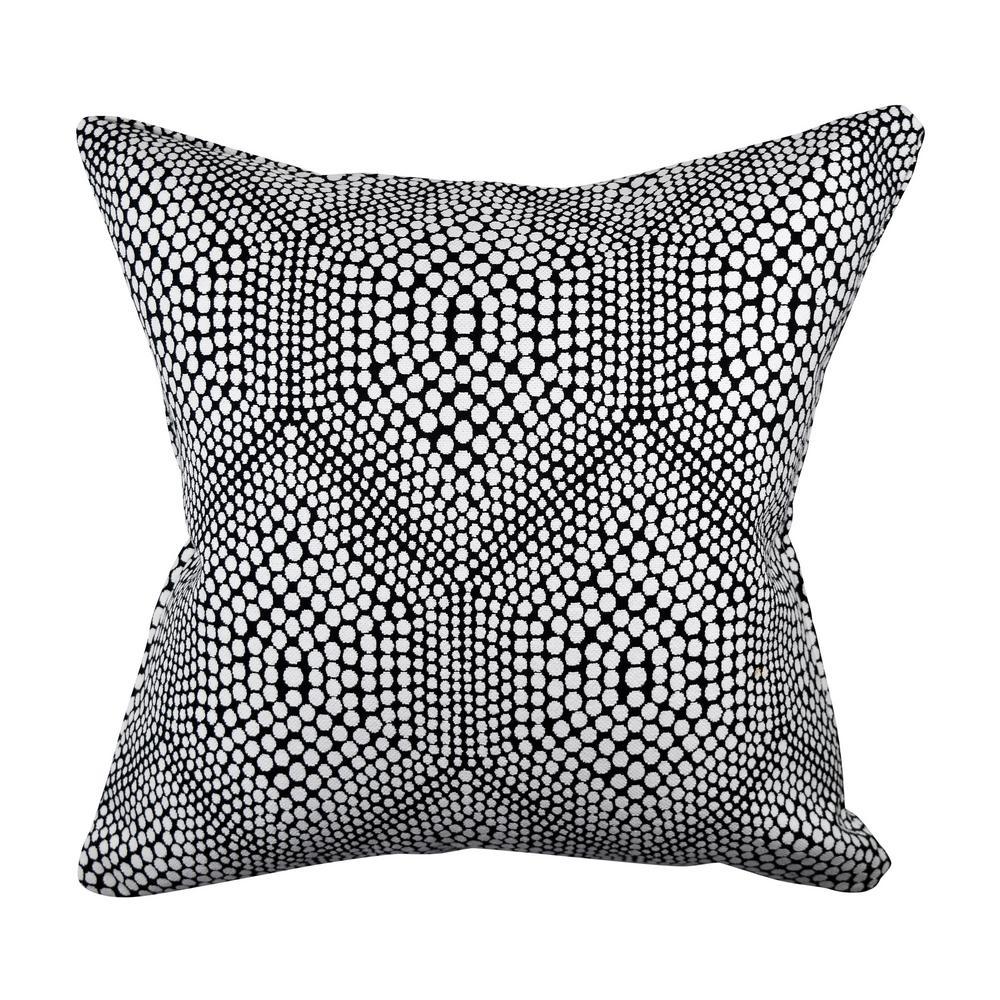 Modern Polka Dot Woven Throw Pillow