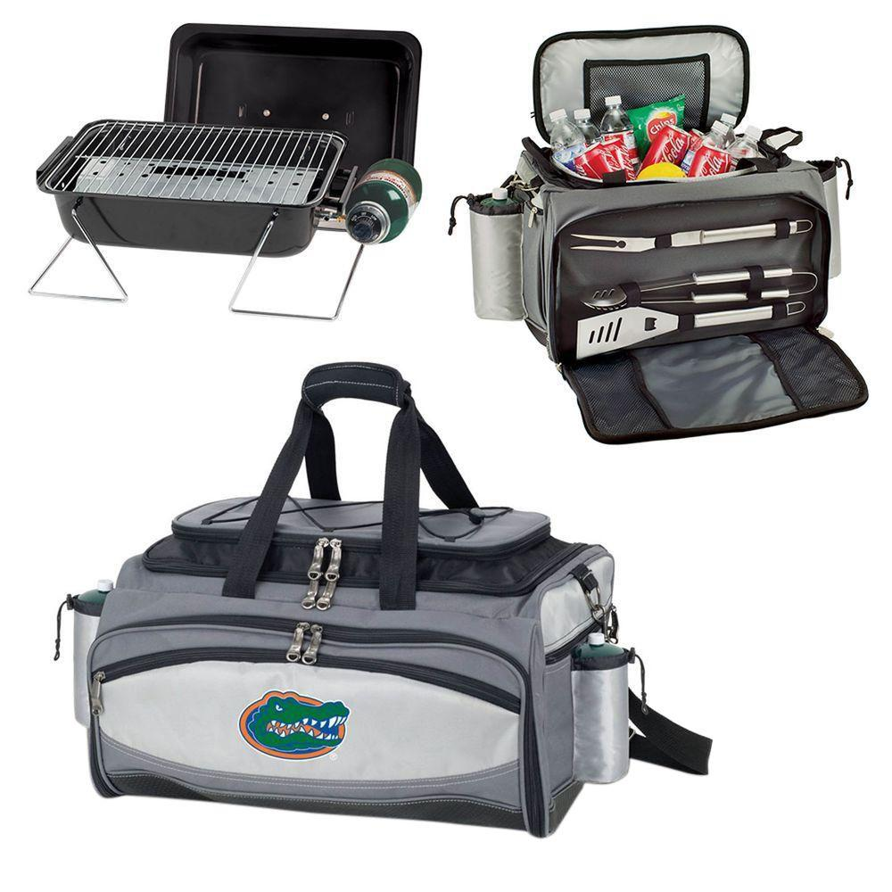 Vulcan Florida Tailgating Cooler and Propane Gas Grill Kit with Embroidered