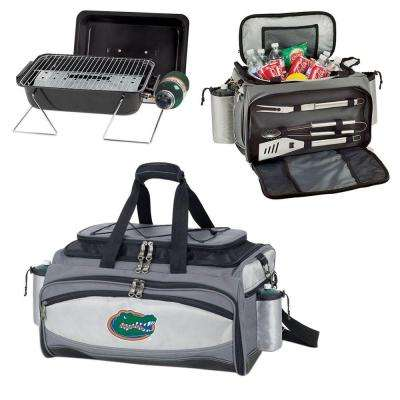 Vulcan Florida Tailgating Cooler and Propane Gas Grill Kit with Embroidered Logo