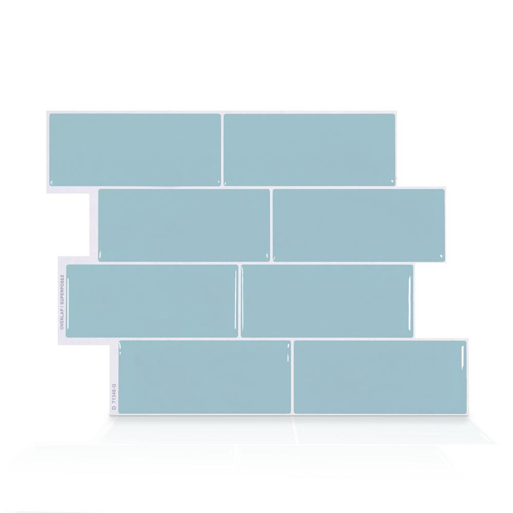 - Smart Tiles Metro Babe 11.56 In. W X 8.38 In. H Blue Peel And