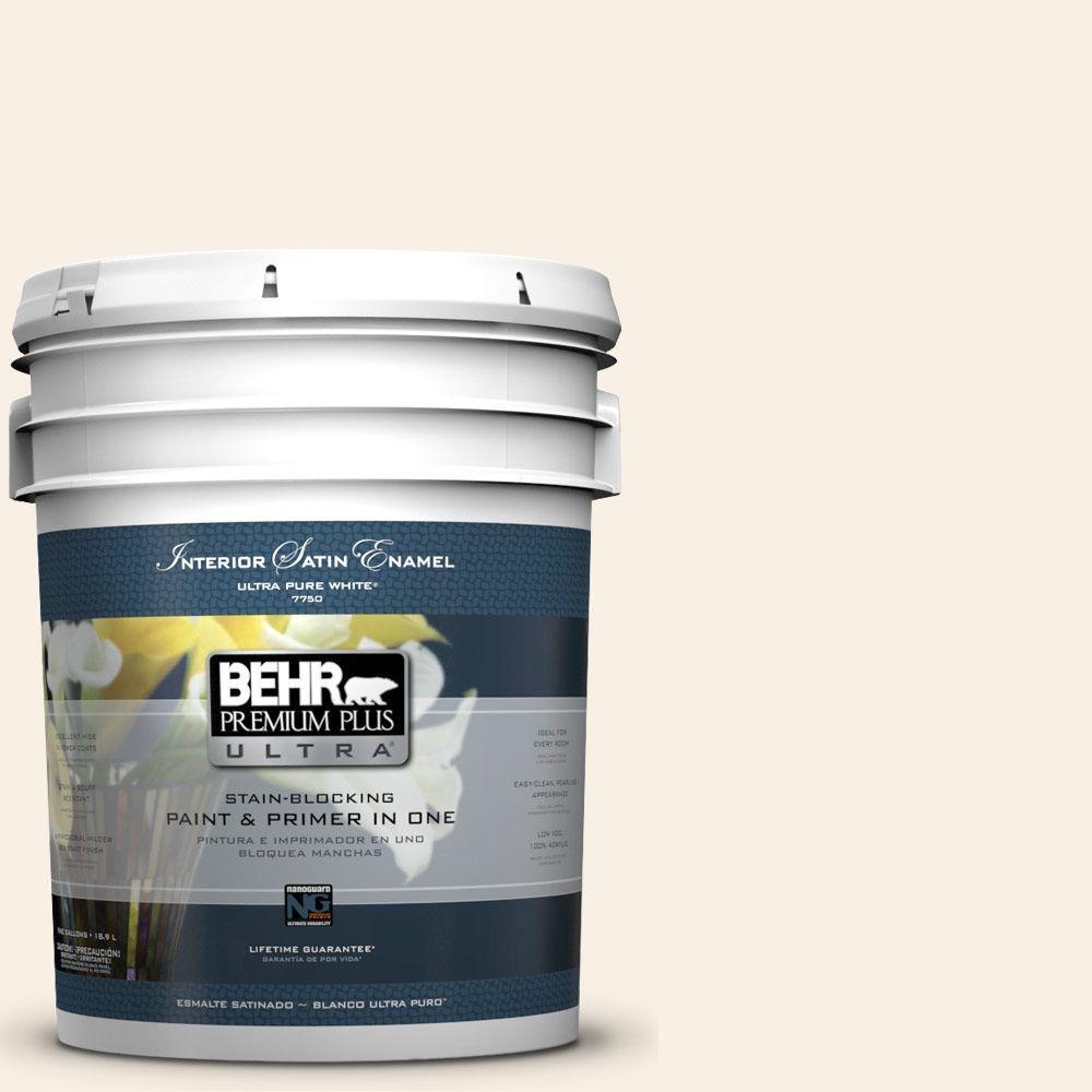 BEHR Premium Plus Ultra 5-gal. #GR-W14 Coconut Twist Satin Enamel Interior Paint
