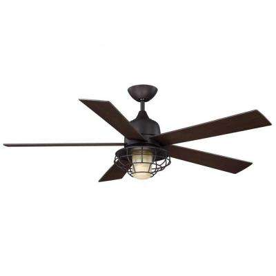 Gigg 52 in. English Bronze Indoor/Outdoor Ceiling Fan