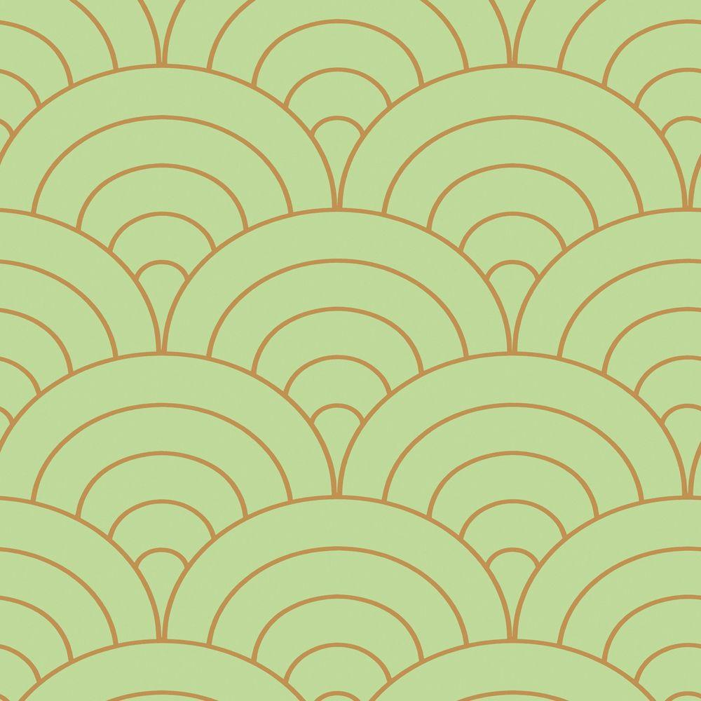 The Wallpaper Company 56 sq. ft. Mint Modern Spiral Wallpaper-DISCONTINUED