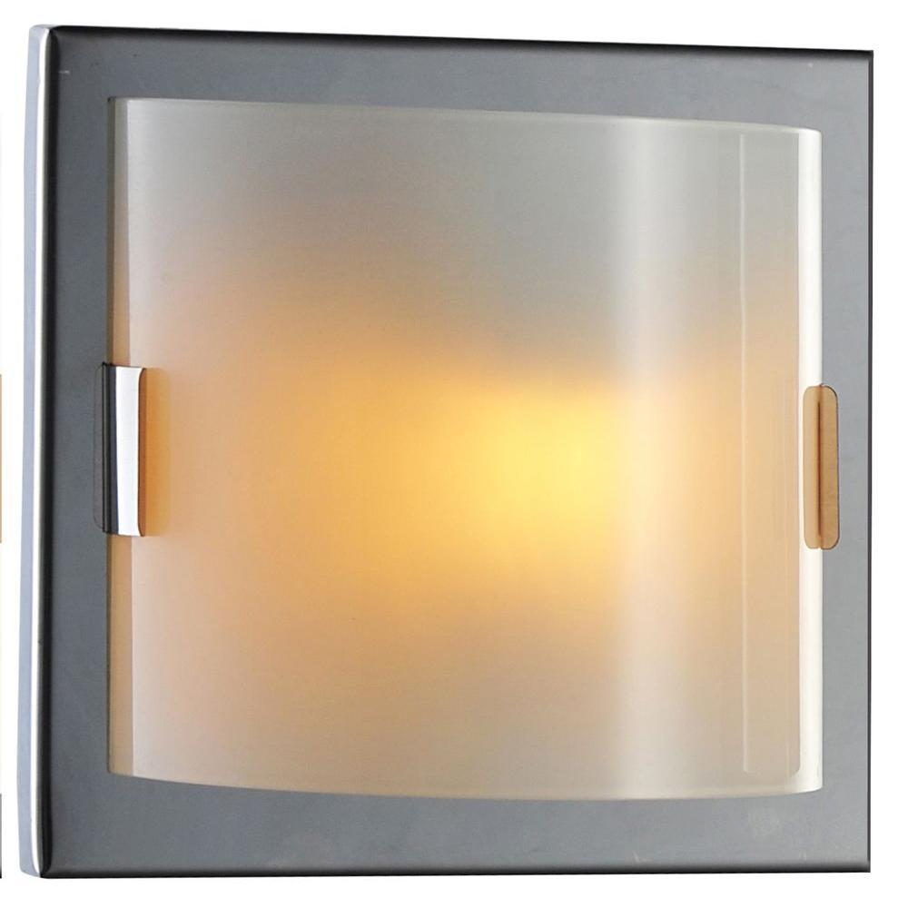 Decor Living Luna Collection 1-Light Chrome Wall Vanity Light-400WV ...