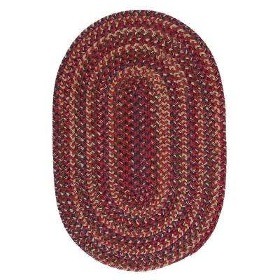 Winchester Brick 4 ft. x 6 ft. Oval Braided Area Rug