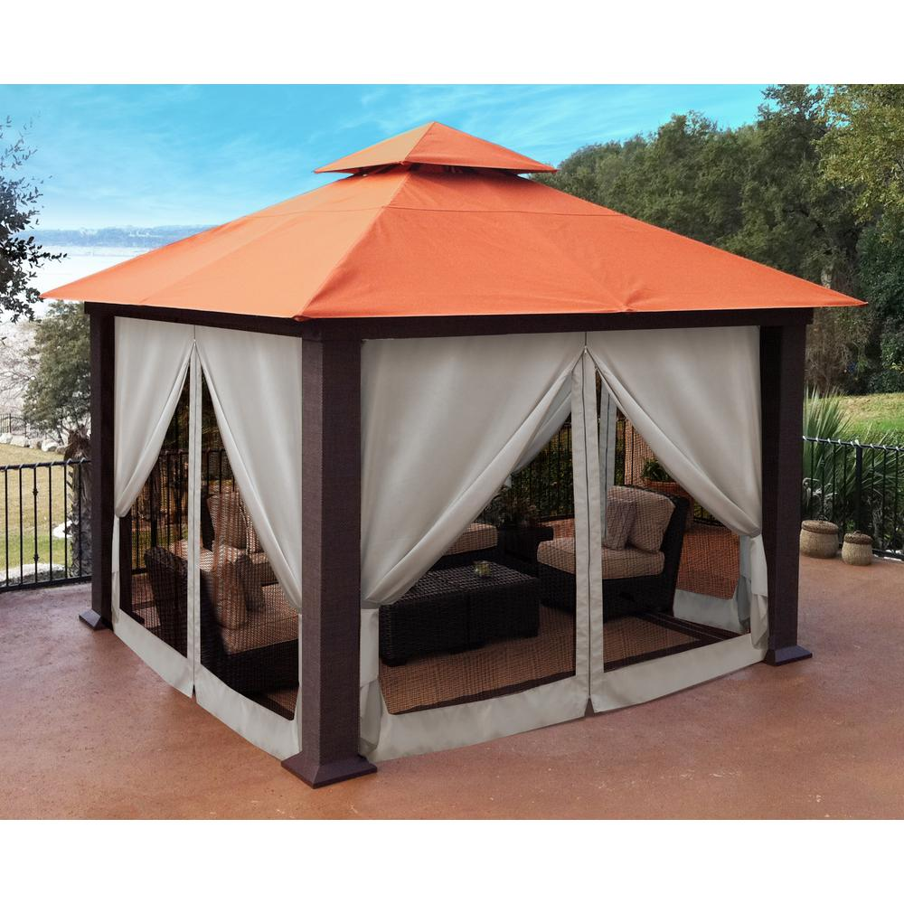 Paragon 12 ft. x 12 ft. Sunbrella Top Gazebo with Privacy