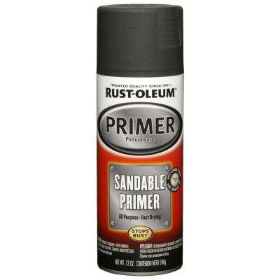 12 oz. Matte Black Sandable Primer (6-Pack)