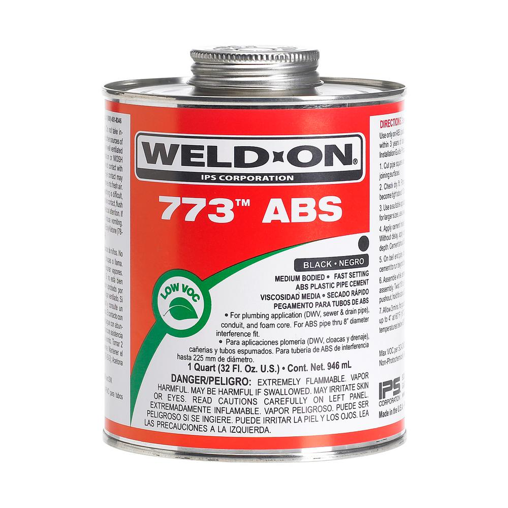 4 oz. ABS 773 Low VOC Cement in Black
